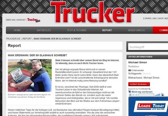 Ich im Trucker