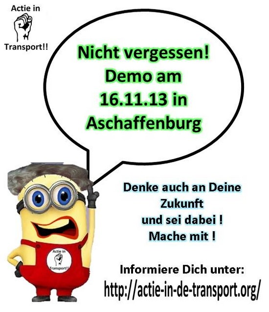 Demo in aschaffenburg am 16.11.2013
