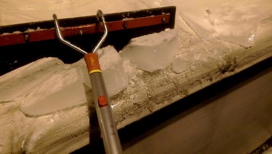 Eis auf Sattelauflieger
