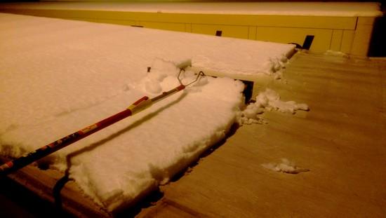 Schnee auf Sattelauflieger