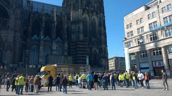 Lkw Fahrer Demonstration in Köln