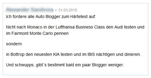 Kommentare Autoblogger