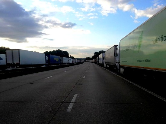 Stau M20 vor Dover