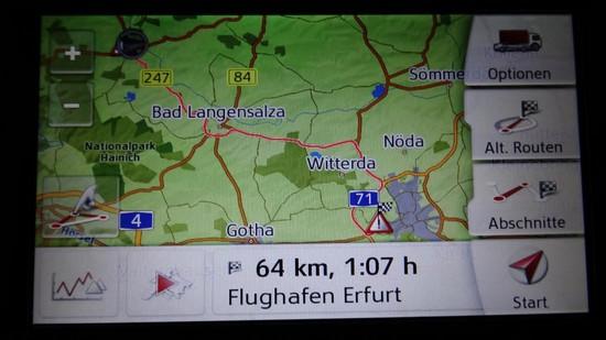 Strecke Mühlhausen Erfurt