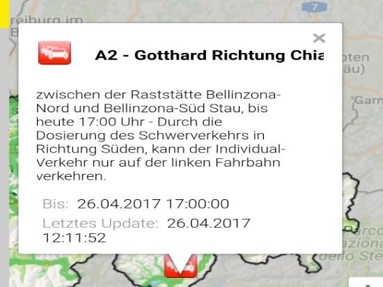 Verkehrsmeldung Schweiz