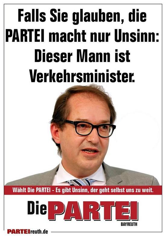 Die Partei Wahlplakat Dobrindt