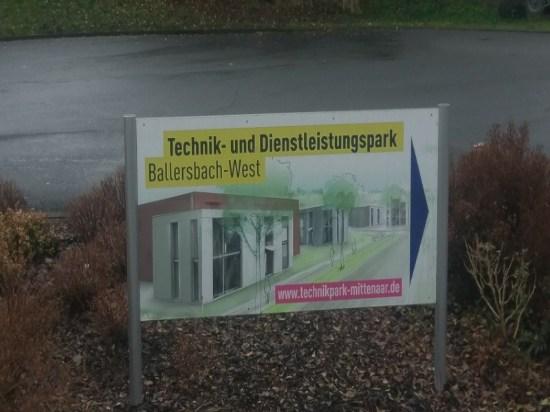 Werbeschild in Ballersbach