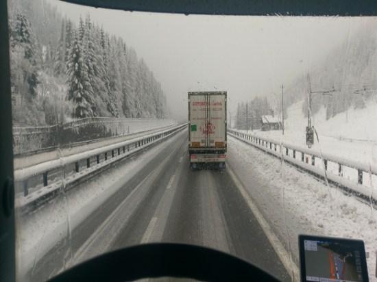 Schnee am Brenner