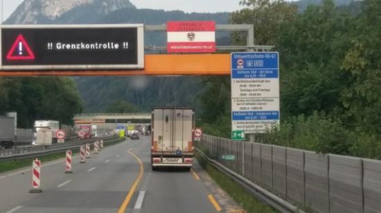 Grenzkontrolle Kufstein Tirol