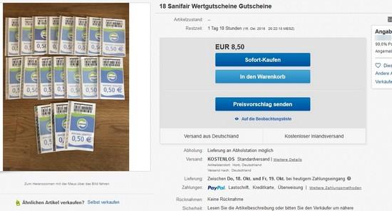 eBay sanifair angebot