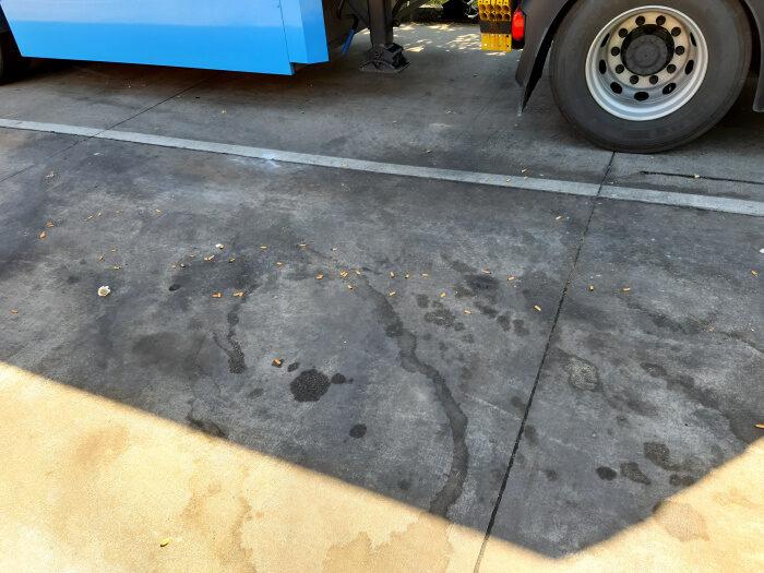 schmutziger Rastplatz