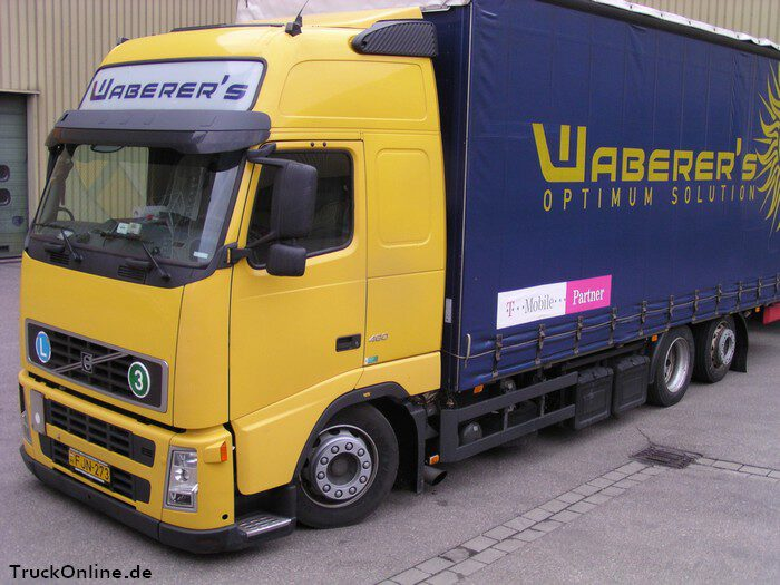lkw der spedition waberer's