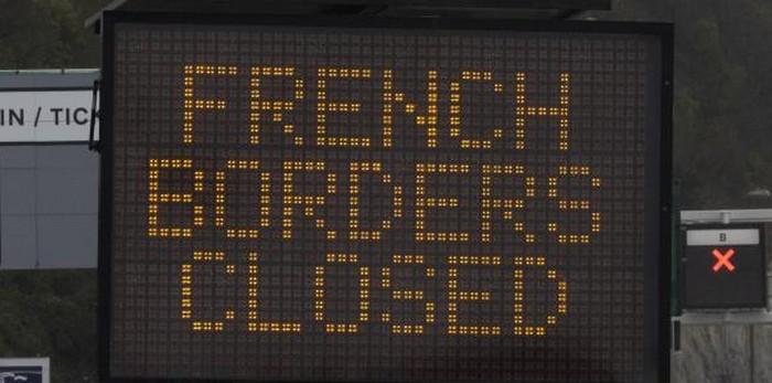 grenze frankreich england dover folkestone geschlossen border closed