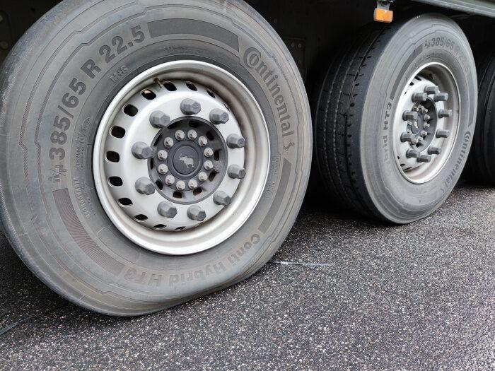 Reifen mit wenig Luft
