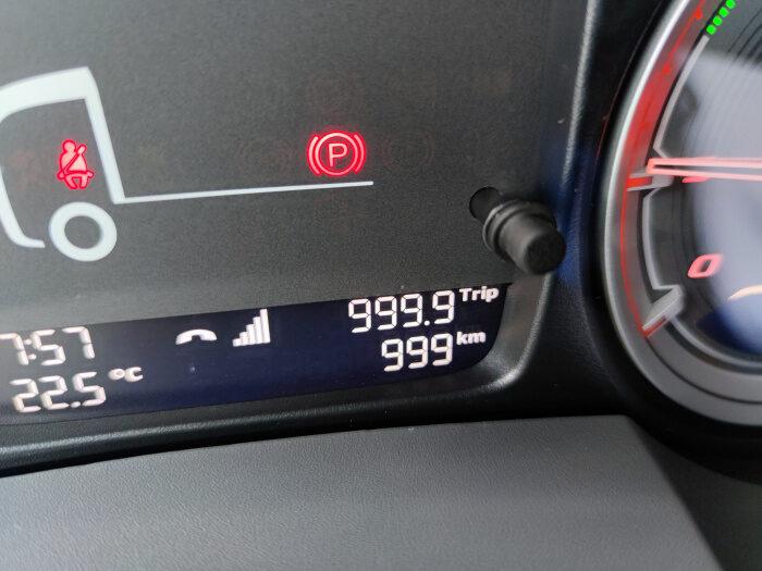 Kilometer Anzeige 999 daf
